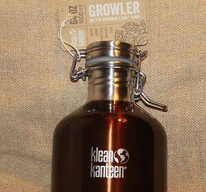 KLEAN-KANTEEN-GROWLER-Sports-Water-Bottle-Stainless-Steel-64-oz-Swing-Lock-Top