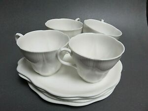 Royal-Albert-Morning-Star-tennis-snack-set-all-White-Shelley-Dainty-shape-cup