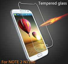 1x clear Tempered Glass Screen Protector Film for Samsung Galaxy Note 2 II N7100