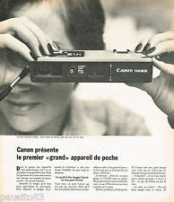 PUBLICITE ADVERTISING 065  1975  CANON appareil photo  de poche 110 ED