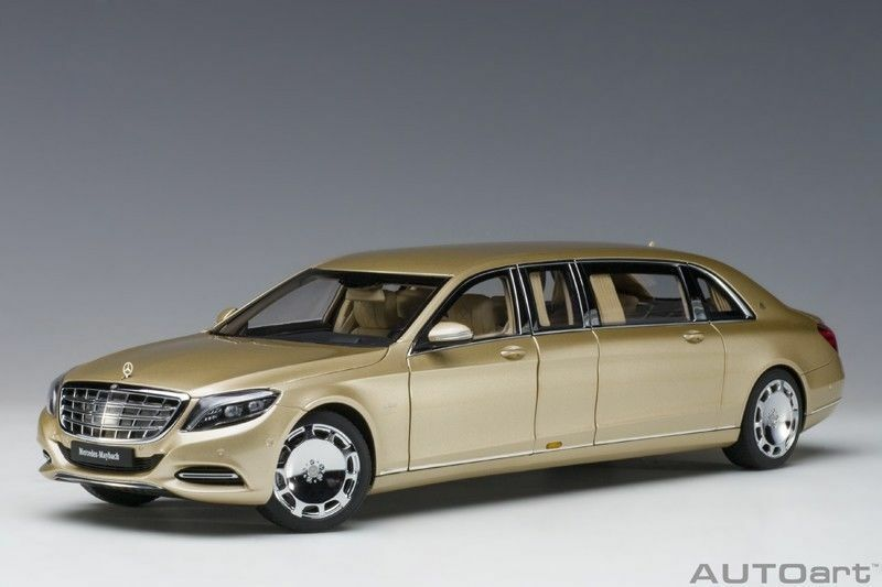 AUTOART 2016 MERCEDES BENZ MAYBACH S 600 PULLMAN gold COLOR 1 18 New