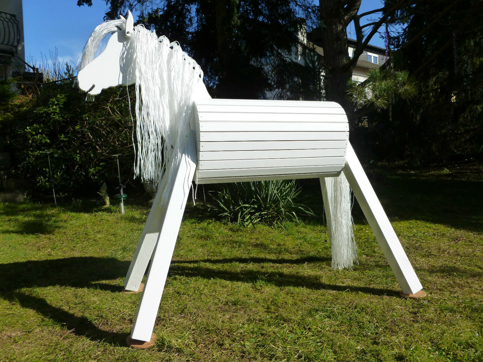 110 cm Holzpferd Pony Holzpony Voltigierpferd Spielpferd Pferd Pony Holzpferd Lippizzaner NEU 1b89a1