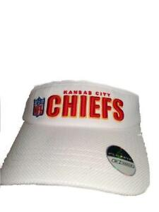 1cea3e04fea New Kansas City Chiefs Mens OSFA Reebok Red White Flexfit Golf Visor ...