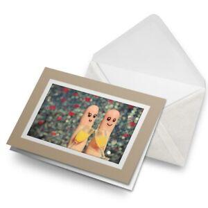 Greetings-Card-Biege-Cute-Finger-Couple-Celebration-15613