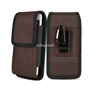 Heavy-Duty-Vertical-Cell-Phone-Pouch-Case-Holder-Holster-Carrying-Belt-Clip-US