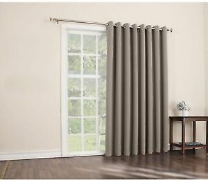 Sun Zero Easton Blackout Patio Door Curtain Panel 100 X 84 Stone