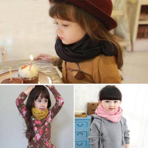 Soft Kids Girls Boys Baby Toddler Linen Scarf Winter Warm Shawl Neck Scarves