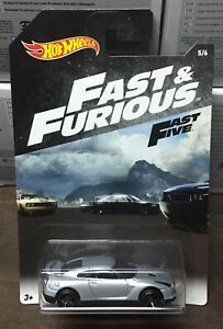 Nissan-GT-R-2009-Automobile-Fast-amp-Furious-Auto-1-64-6-CM-Hot-Wheels-Fast-Five