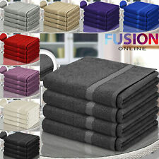 Pure 100% Egyptian Cotton Bathroom Towels Bath Sheet Bale Set Super Soft 500 Gsm