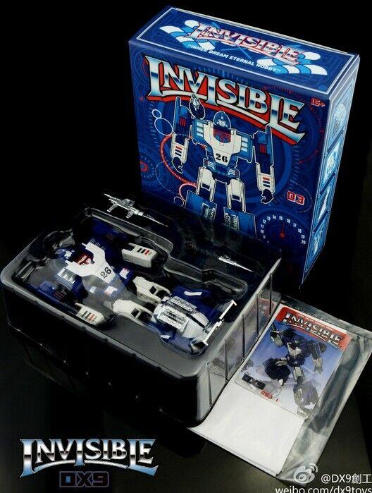 Nuevo DX9 Juguetes Transformers D03 invisible Mirage figura sin usar y en caja sellada en acción