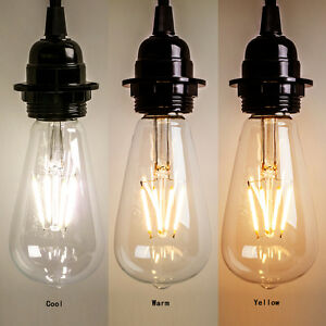 Vintage E27 Edison Bulb Led Lamp Retro Filament Cob Light
