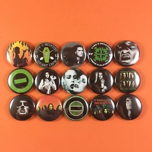 Type-O-Negative-1-034-PIN-BUTTON-lot-Peter-Steele-Goth-Punk-Metal