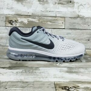 Mens Nike Air Max 2017 Running Shoes Size 10 WhiteWolf Grey 849559 101 $190