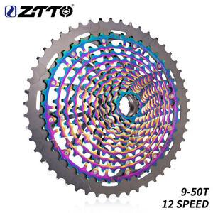 ZTTO 11//12-Speed 9-50T MTB Cassette XD Cassette Rainbow ULT Cassette Ultralight