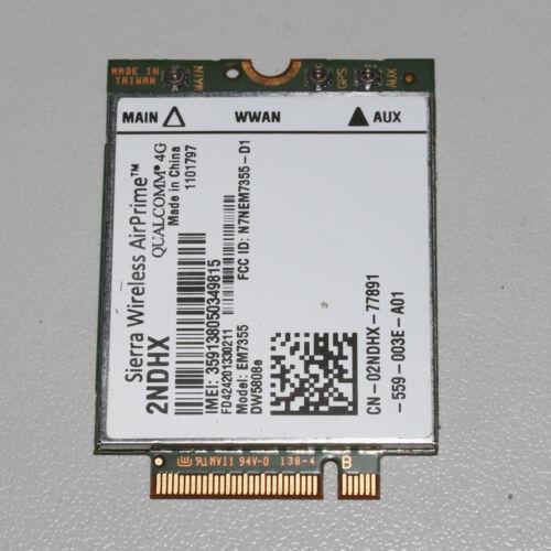 Dell Wireless DW5808e 4G LTE EM7355 WWAN Module Card 2NDHX NPR73 PN01C 4GP3D