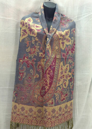 Women/'s Pashmina Magnolia Flower Scarf Shawl Wrap Muti-Color Silk Cashmere Soft*