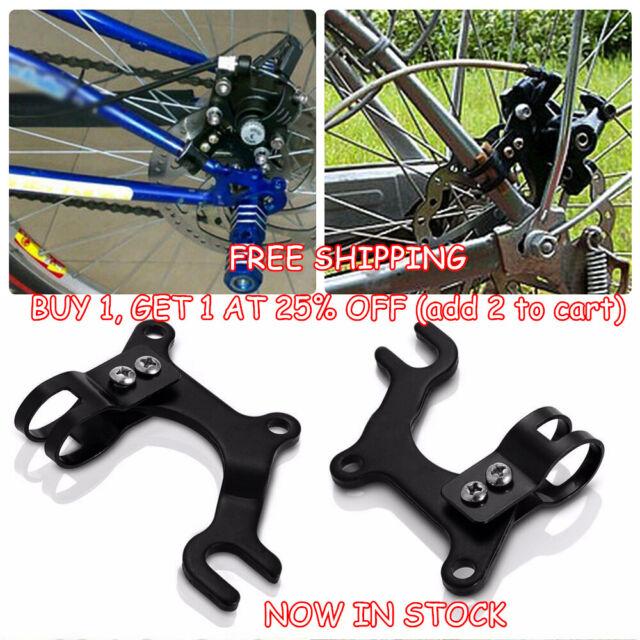 MTB Mountain Bike Bicycle Disc Brake Bracket Frame Adapter Mounting Holder Black