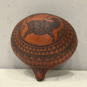African-Half-Gourd-Cowrie-Shell-Container-Kamba-Kenya