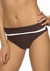 High-waisted-Fold-over-Bikini-Briefs-Swimwear-039-Rio-039-by-Ballet-Aubergine-size-18