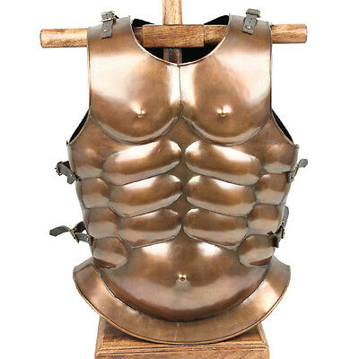 Medieval Roman Greek Muscle Re-enactment 20g Body Armor Cuirass Copper Finish