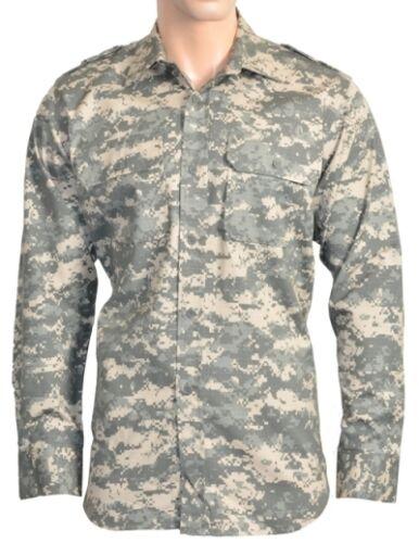 Militare Ripstop campo Camicia-Tutte le Taglie-ACU DIGITAL mimetico esercito camouflage top