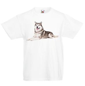 Husky Kid/'s T-Shirt Children Boys Girls Unisex Top Dog