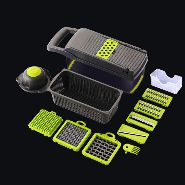 12in1 Food Vegetable Salad Fruit Peeler Cutter Slicer Dicer Chopper Kitchen Tool