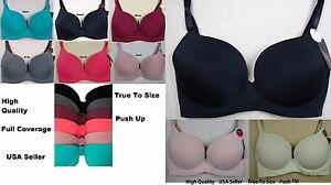 New-Womens-Plus-Size-PUSH-UP-Bra-Underwire-top-bodyshapers-32-44-DD-90030