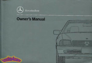 500sl 300sl owners manual mercedes 1992 book 500 sl 300 maintenance rh ebay com 1998 Mercedes S600 1998 Mercedes S600