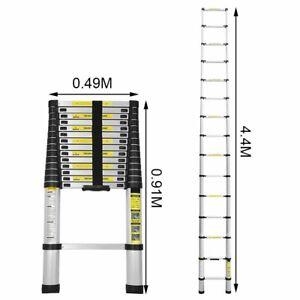 5m Alu Teleskopleiter Mehrzweckleiter Stehleiter Ausziehleiter leitern Ein-Klic