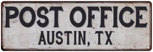 Austin Tx Post Office Personalized Metal Sign Vintage 106180011007