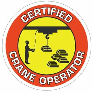 7fae5b28f29 Certified Crane Operator Hard Hat Decal Hard Hat Sticker Helmet ...