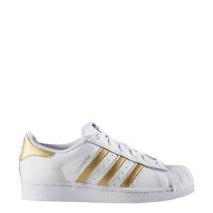 Cheap Adidas Big Kids Superstar White Metallic Gold B39402 5
