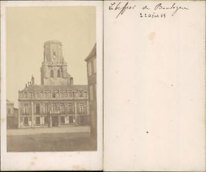 France-Boulogne-sur-mer-le-beffroi-Vintage-CDV-albumen-carte-de-visite-CD