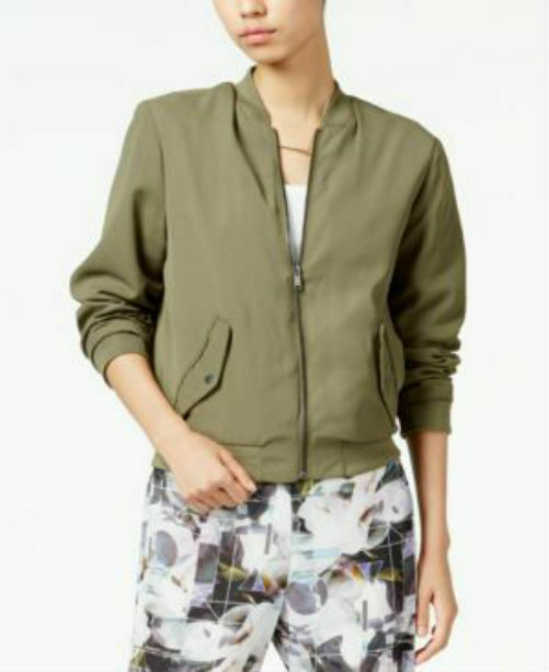 Bar III Women's With Side Pocket Dusty Olive Size L NWT