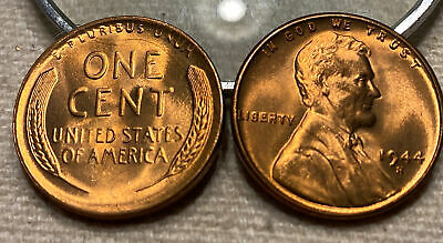 1944 S Lincoln Wheat Cent Nice MS//BU Full RED Lincoln Coin choice