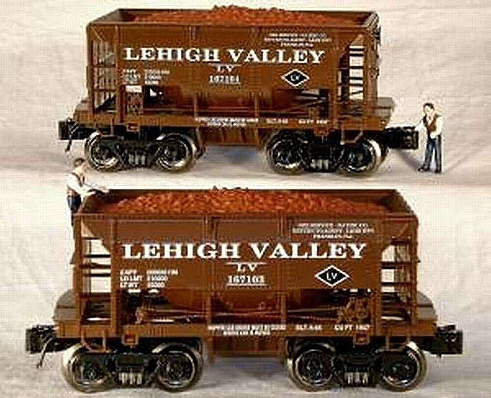 RMT READY MADE TRAINS ORE CAR SET w ORE LOAD LEHIGH VALLEY 2 PK.O GAUGE