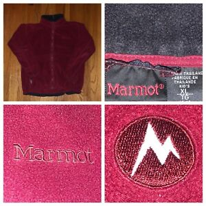 Marmot-Kids-Red-Full-Zip-Fleece-Jacket-Size-XL