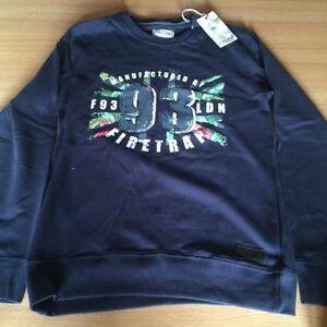 Firetrap Mens Boys Jumper Sweater Small Navy Brand New