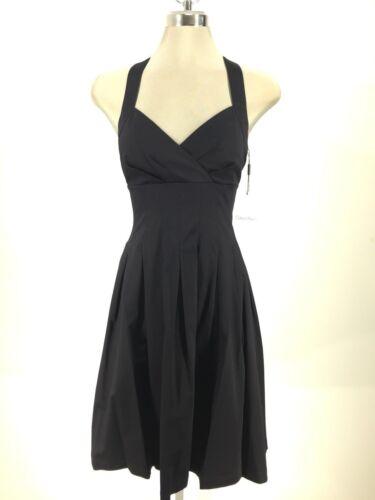 Robe Neuf Noir Magnifique Avec Coton Klein Étiquettes Calvin Poitrine Plissée OwP0U4Bqn5