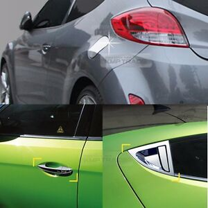 Chrome-Door-Catch-Molding-Fuel-Cover-Garnish-7P-for-HYUNDAI-2011-2017-Veloster