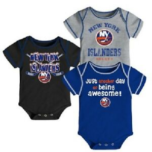 meet 37903 c7770 Details about NHL New York Islanders 3 Pack Creeper Bodysuit One Piece -  Choose Size