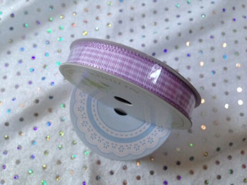 11 Designs-VAR longueurs Printemps Lilas Limes /& Lace Mini Ruban Bobines 10-27 mm