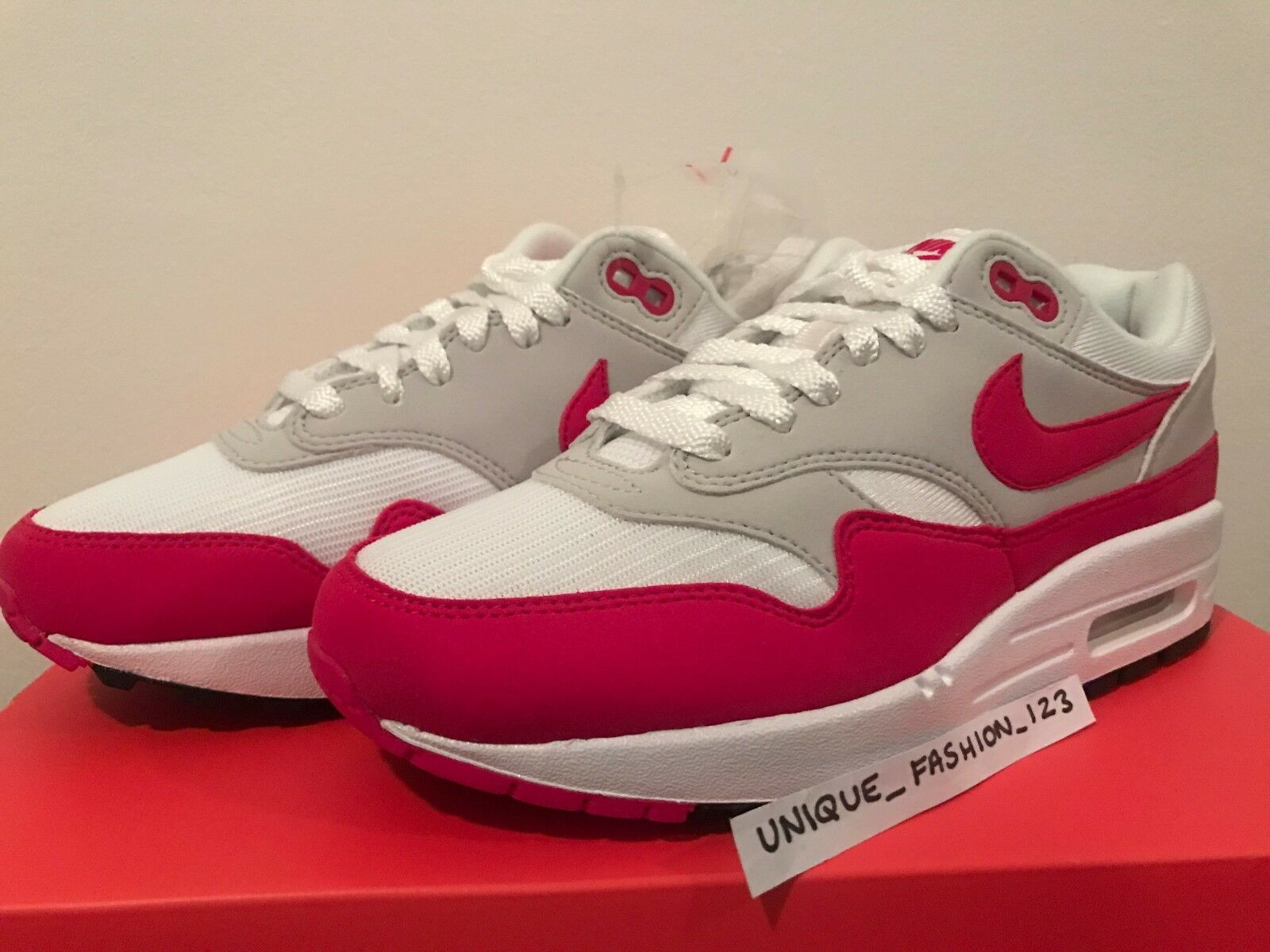 NIKE AIR MAX 1 30TH ANNIVERSARY OG RED WHITE GREY 2017 best-selling model of the brand