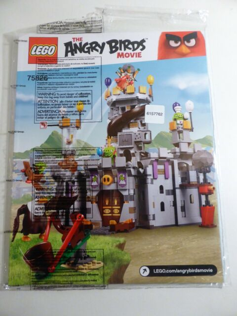 LEGO - Angry Birds - 75826 - King Pig's Castle - Instructions Manuals ONLY