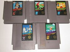 Nintendo NES Lot of 5 Black Box Games - Gyromite, Golf, Hogan's Alley, Pinball