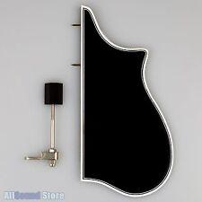 F-Model Bound Mandolin Pickguard & Bracket for Gibson F5 BLACK w/ 3-Ply Binding