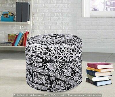 Indian Ottomans Round Pouf Cover