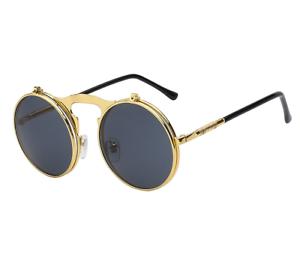 7b8faed73a2 New John Lennon Flip Up Glasses Mirrored Round Retro Hippie Vintage ...