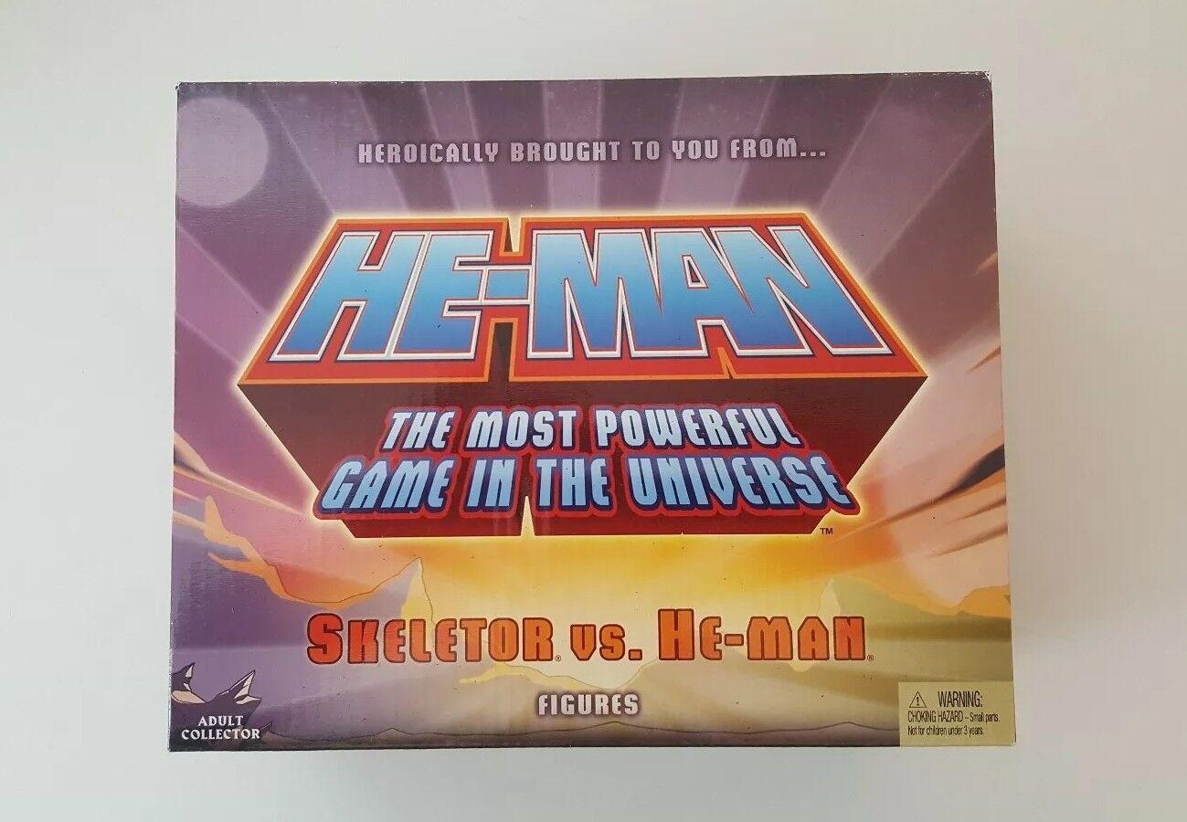 Motu Classics Sdcc Skeletor vs He-man mini action figure set Masters of the...